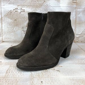 Paul Green heeled ankle bootie brown suede 5.5/6
